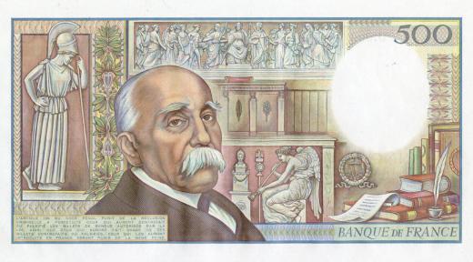 Projet de billet Clemenceau, version de 1982 (verso)