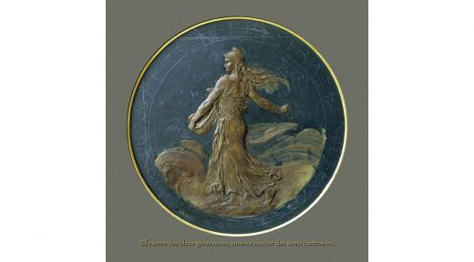 Oscar Roty, La Semeuse, 1896, cire sur ardoise, © Fondation Oscar Roty