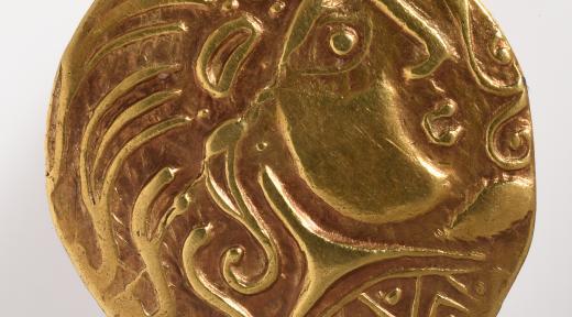 Statère d'or des Parisii (avers)