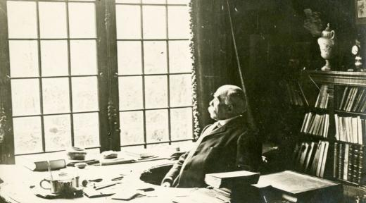 Georges Clemenceau at the desk in his study
